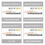 4 Auszeichnungen von der Initiative Mittelstand im Rahmen ihres jährlichen Innovationspreises