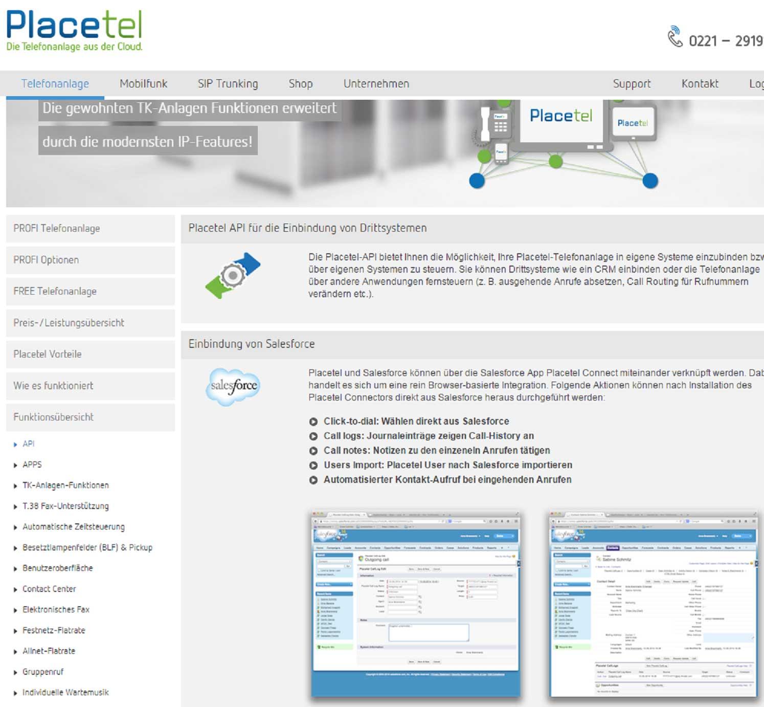 API-Schnittstelle zur Anbindung von externen Systemen