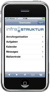 infra-struktur in der mobilen Version für das iPhone