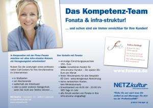 infra-struktur &Fonata-Callcenter- Ab jetzt sind Sie immer erreichbar!